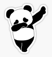 Dabbing Panda Sticker
