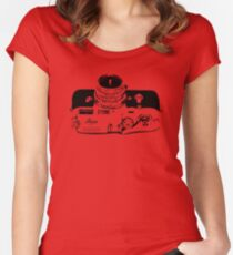 Classic Rangefinder Camera (Black) Women's Fitted Scoop T-Shirt