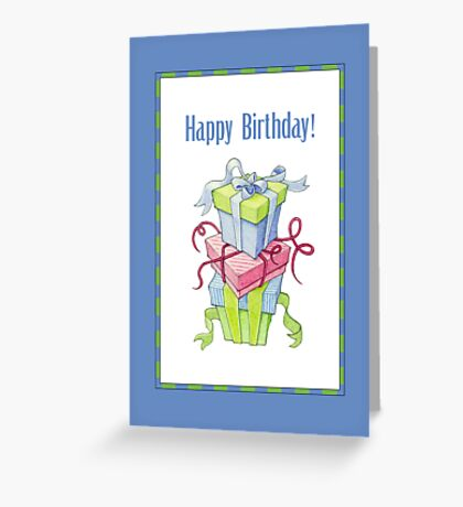 Gift Boxes Birthday Greeting Card