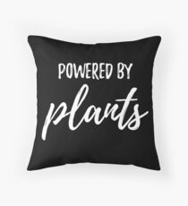 Powered By Plants Throw Pillow