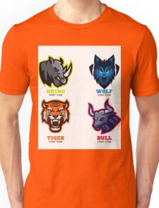 Animal Badges Sport Teams Unisex T-Shirt