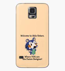 Funda/vinilo para Samsung Galaxy Mabel- Animal Crossing- Bienvenido a Able Sisters