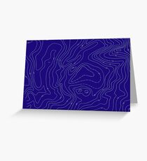 Topographer Contour Mapping For Backpackers Greeting Card