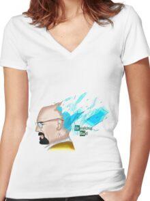 "Breaking Bad ""BlueSky"" Women's Fitted V-Neck T-Shirt"