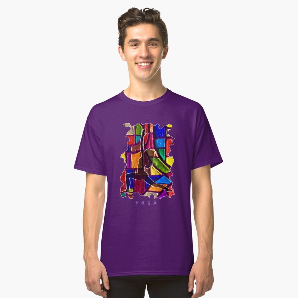 FEMALE YOGA CALM STRETCHING POSE Classic T-Shirt