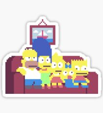 The Simpsons Pixel Art Sticker