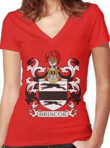 Brisco Coat of Arms Women's Fitted V-Neck T-Shirt