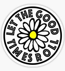 Let the Good Times Roll Daisy Sticker