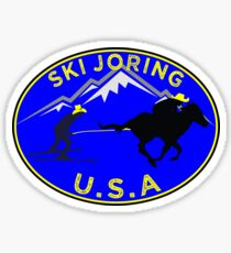 SKI JORING SKIJORING AMERICA USA COWBOY SKIING SKIER Sticker
