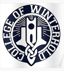 College of Winterhold Logo Design Poster