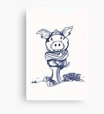 Mofo Pig Canvas Print