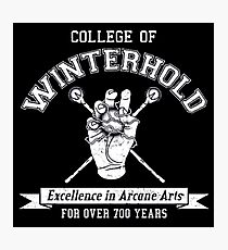 College of Winterhold Logo Design Photographic Print