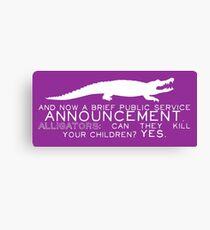 Alligator PSA Canvas Print