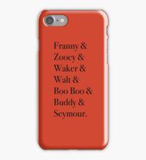 JD Salinger's Glass Family iPhone Case/Skin