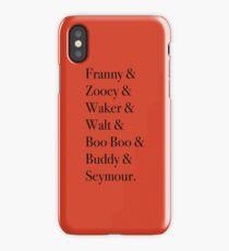 JD Salinger's Glass Family iPhone Case