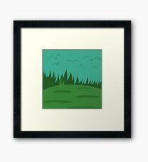 Simplistic Birds Framed Print