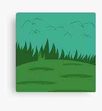 Simplistic Birds Canvas Print