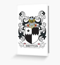 Britton Coat of Arms Greeting Card