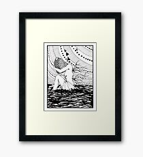 Drowning In Attachments Framed Print