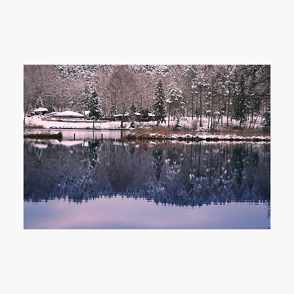 Silence in the winter lake Photographic Print