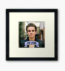 Joe Sugg blue banner Framed Print