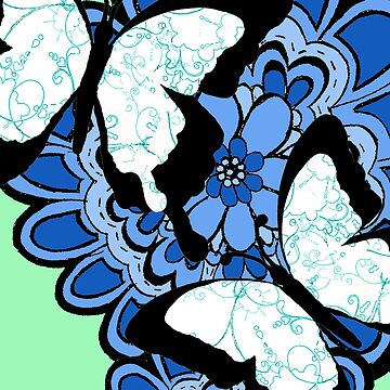 Blue swirl butterflies by sarahgee