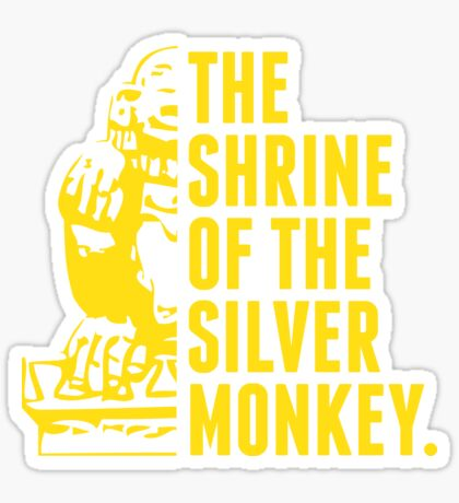 The Shrine of the Silver Monkey! Sticker