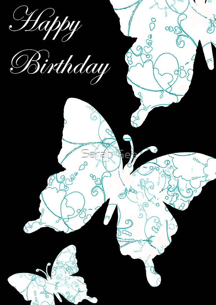 Butterfly birthday card by Sarah Gee