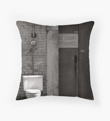 The Electric Outhouse Throw Pillow