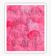 Find Something You Love Rushmore Print Sticker