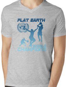 Flat Earth World Champions - FIRE Mens V-Neck T-Shirt