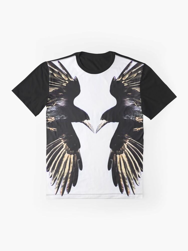 Alternate view of Huginn and Muninn Graphic T-Shirt