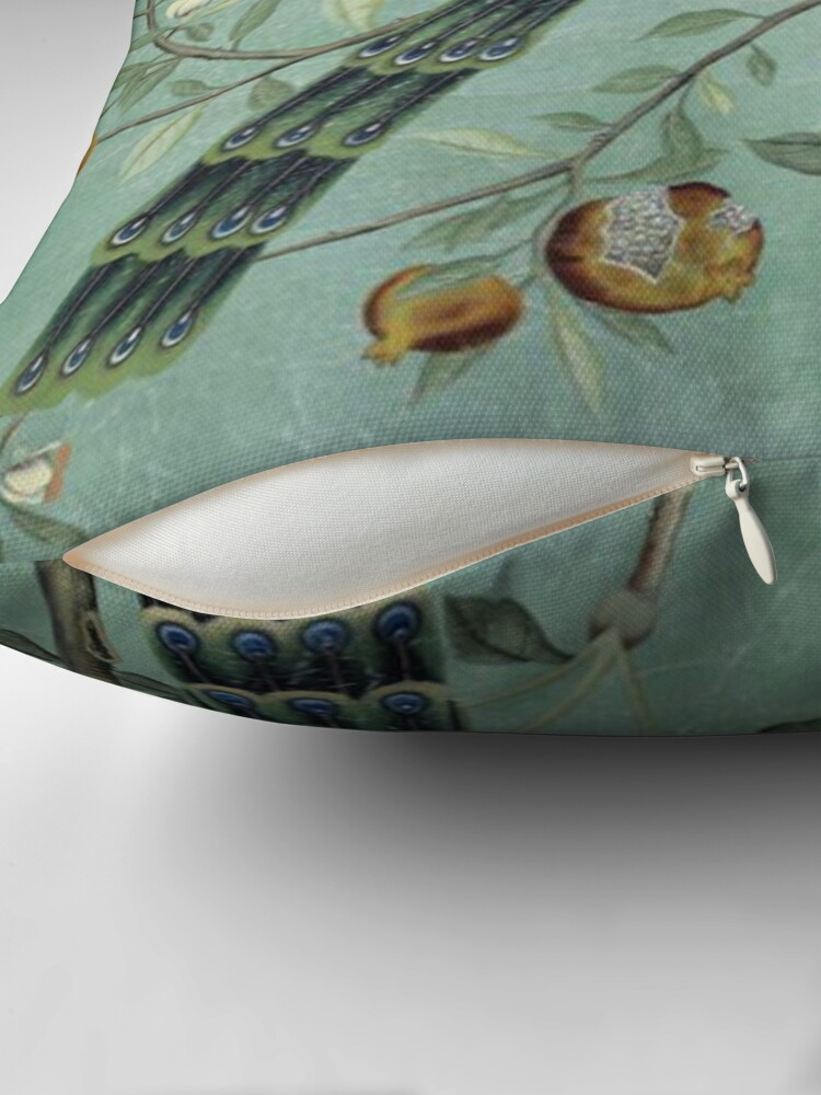 Alternate view of A Teal of Two Birds Chinoiserie Throw Pillow