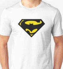 SuperBat - LOGO / SYMBOL Design (BLACK AND YELLOW) T-Shirt