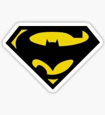 SuperBat - LOGO / SYMBOL Design (BLACK AND YELLOW) Sticker