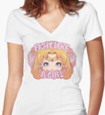 Usagi shirt Women's Fitted V-Neck T-Shirt