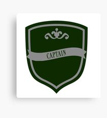 Green and Silver Badge 7 Canvas Print
