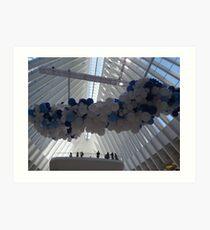 Art Installation, World Trade Center Transit Hub Oculus, Lower Manhattan, New York City Art Print
