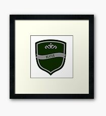 Green and Silver Badge 8 Framed Print