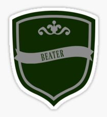 Green and Silver Badge 8 Sticker