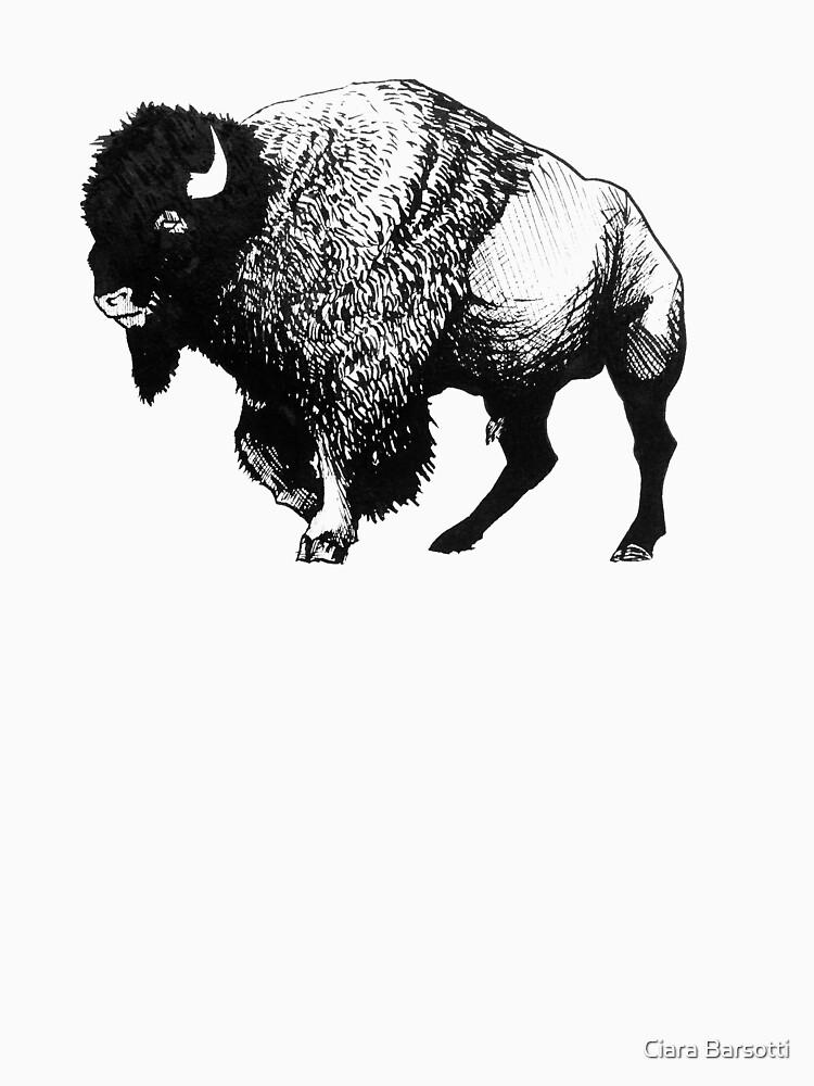 Buffalo Ink Bison Drawing by Ciarabarsotti