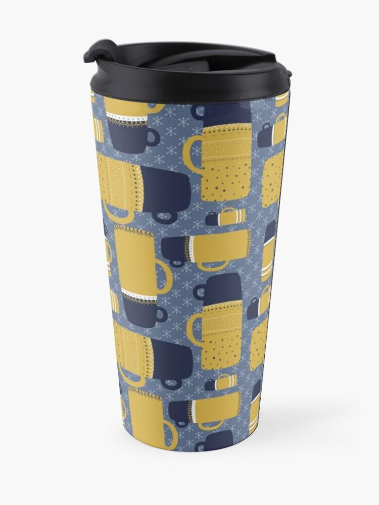 Alternate view of Retro Thermos Pattern Travel Mug