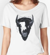 Dead Eyes Buffalo Skull Art Women's Relaxed Fit T-Shirt