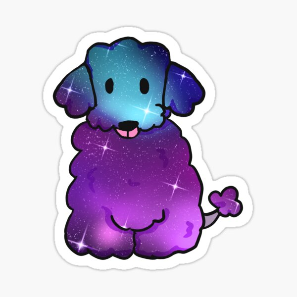 Galaxy Poodle Pup Sticker