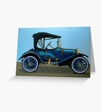 Overland 1911 Painting Greeting Card
