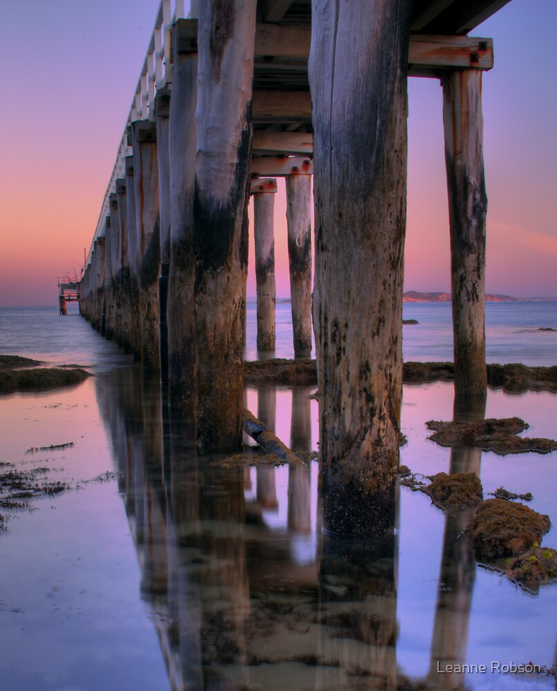 Jetty Sunset by Leanne Robson