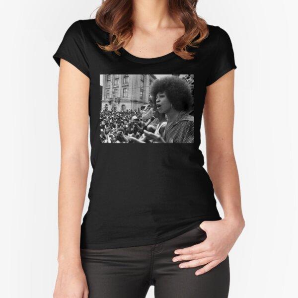 Angela Davis Speech Fitted Scoop T-Shirt