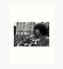 Angela Davis Speech Art Print