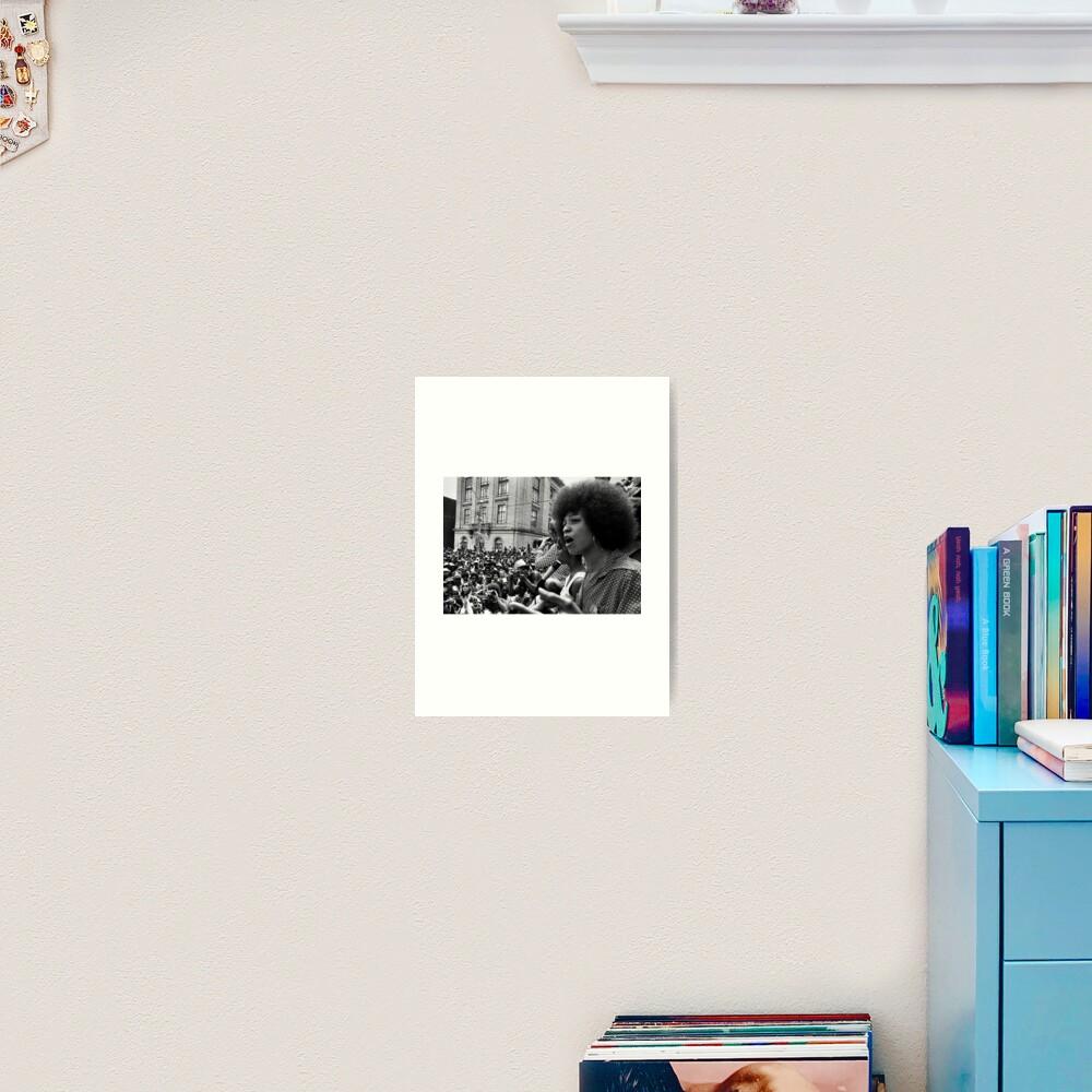 Angela Davis Speech Art Print