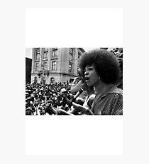 Angela Davis Speech Photographic Print
